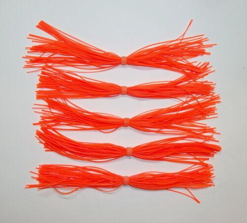 5 Custom Hand Made Silicone Spinnerbait Skirts Orange -Bass Fishing-Fishing-NEW