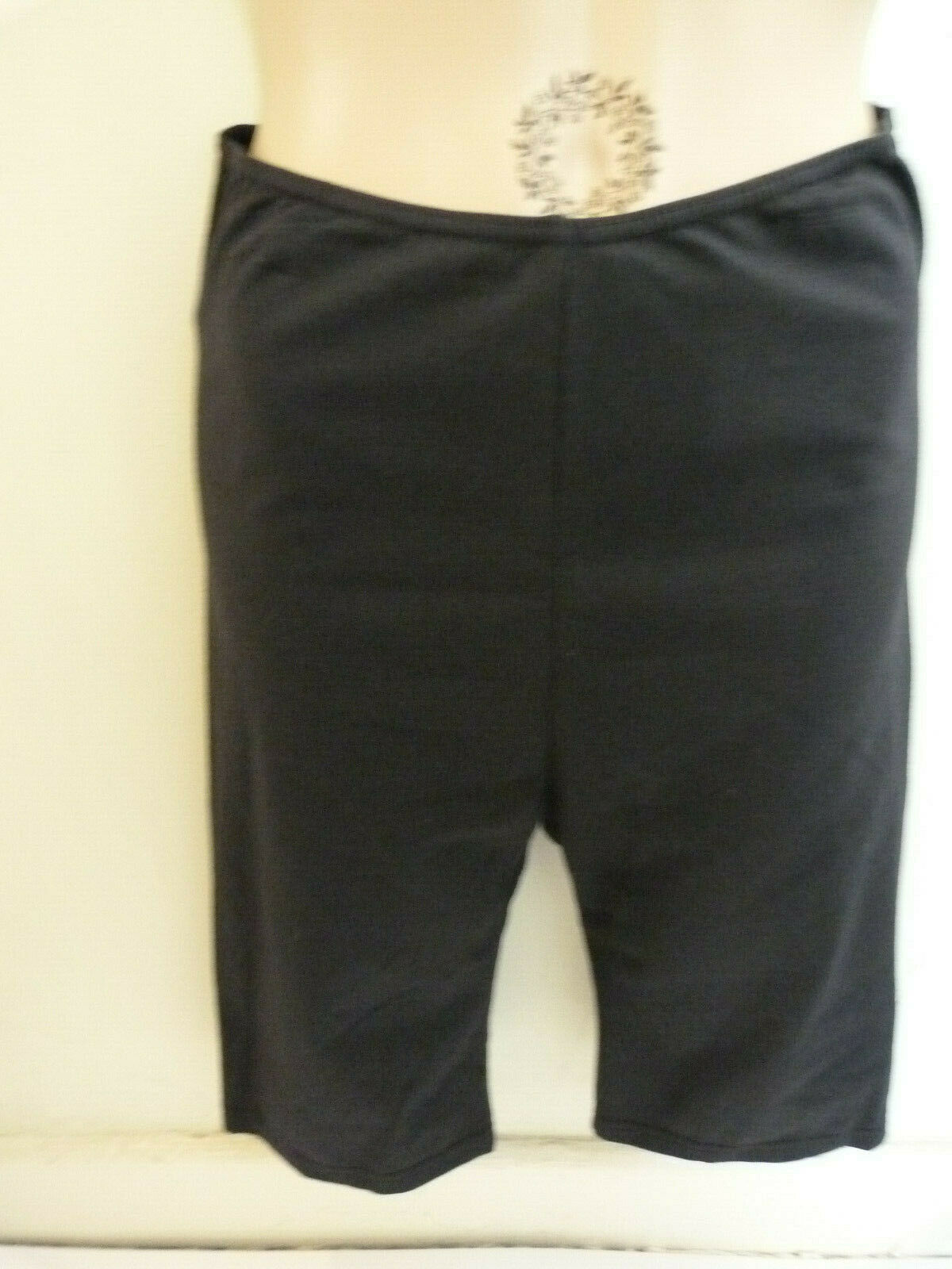 Unworn black cotton lycra cycle shorts by Freed of London. R