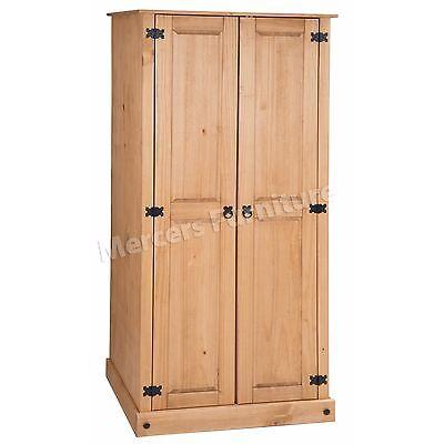 Corona Budget 2 Door Wardrobe Mexican Bedroom Solid Pine by Mercers Furniture®
