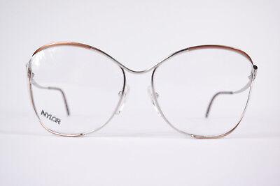Appena Vintage Nylor 327 56 [] 18 120 Marrone Rame Ovale Montatura Occhiali Nos-