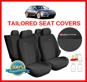 Black Waterproof Car Seat Covers Set For Vauxhall Insignia Sports Estate 17 On
