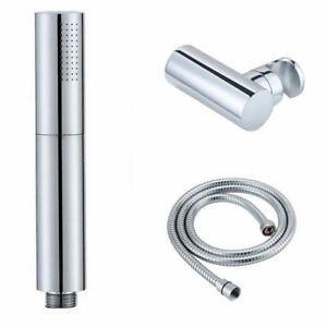 Brass Hand Held Shower Head Round 2 Ways Handheld Sprayer With  Wall Connector