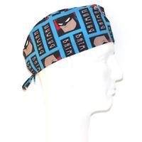 Batman Turquoise Squares Theme Scrub Hat