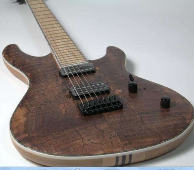 2018 custom shop 7 strings electric guitar neck thru body spalted maple stain for sale online ebay. Black Bedroom Furniture Sets. Home Design Ideas