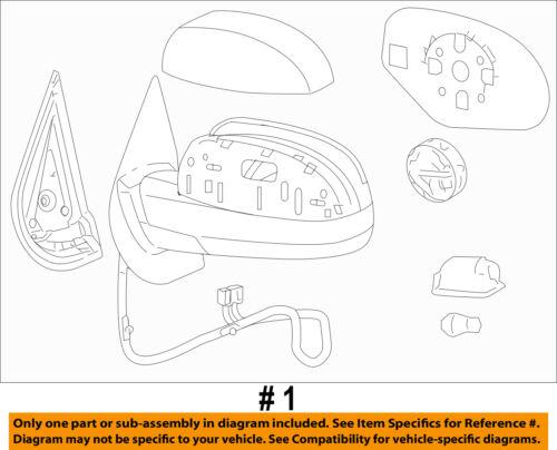 GM OEM Door Side Rear View-Mirror Assy Right 20756937