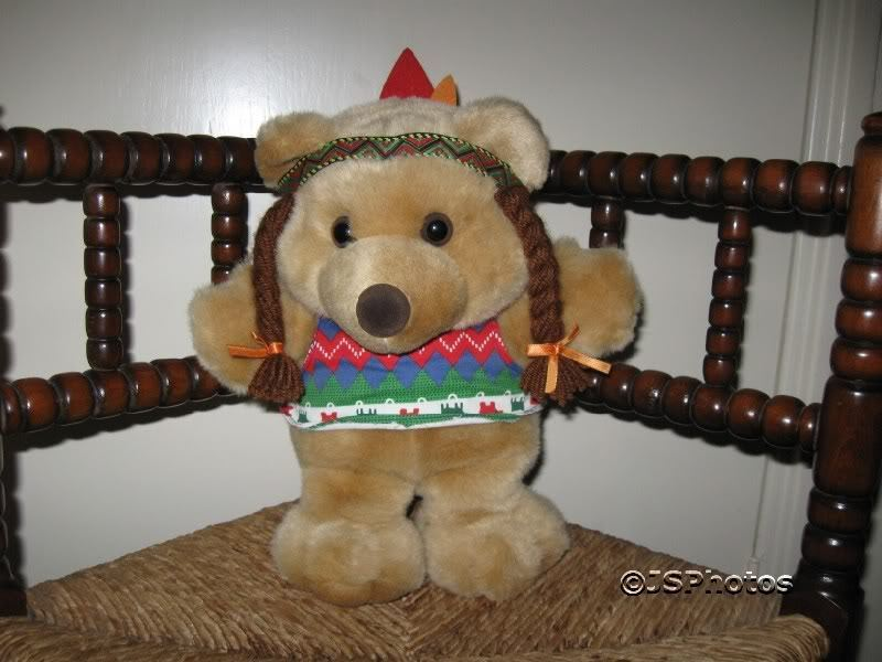 Indian Girl Teddy Bear Dake Amsterdam Netherlands RARE