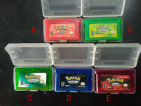 Boy Advance Pokemon 5 Game Bundle FireRed Sapphire Leaf Green Ruby Emerald Toy A