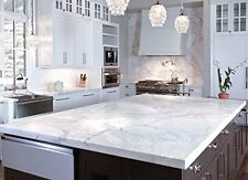 Instant Peel N Stick White Marble Granite Counter Top Vinyl Overlay Film  12'