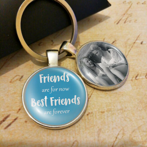 Personalised Best Friends Photo Keyring Friendship Gifts BFF Birthday Present UK
