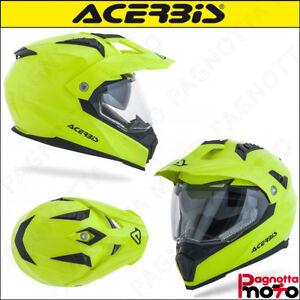 CASCO-HELMET-INTEGRALE-MOTO-CROSSOVER-ENDURO-ACERBIS-FLIP-FS-606-GIALLO-FLUO