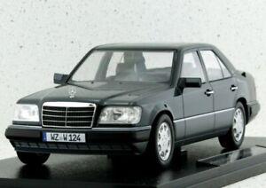 MB Mercedes Benz E - Klasse - W124 - 1989 - blueblack - iScale 1:18