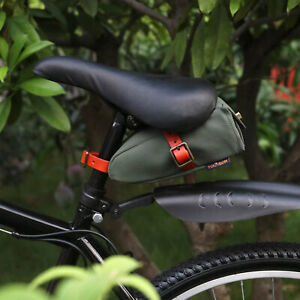 Tourbon-Canvas-Bicycle-Under-Seat-Bag-Holder-Road-Wedge-Bike-Saddle-Bag-Green