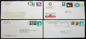 US-Postage-Adv-Set-of-4-Covers-Letters-Philatelic-Society-GS-USA-H-8226