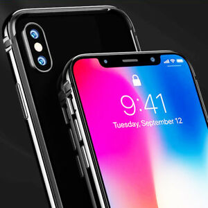 the best attitude 5220c b0c76 Details about Titanium Aluminum Alloy Luxury Slim Shockproof Bumper Case  Cover for iPhone X 10