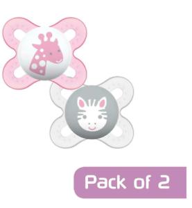 MAM Newborn Bambina inizio Soother Manichino Confezione da 2 Colori Rosa Età 0-2 mesi