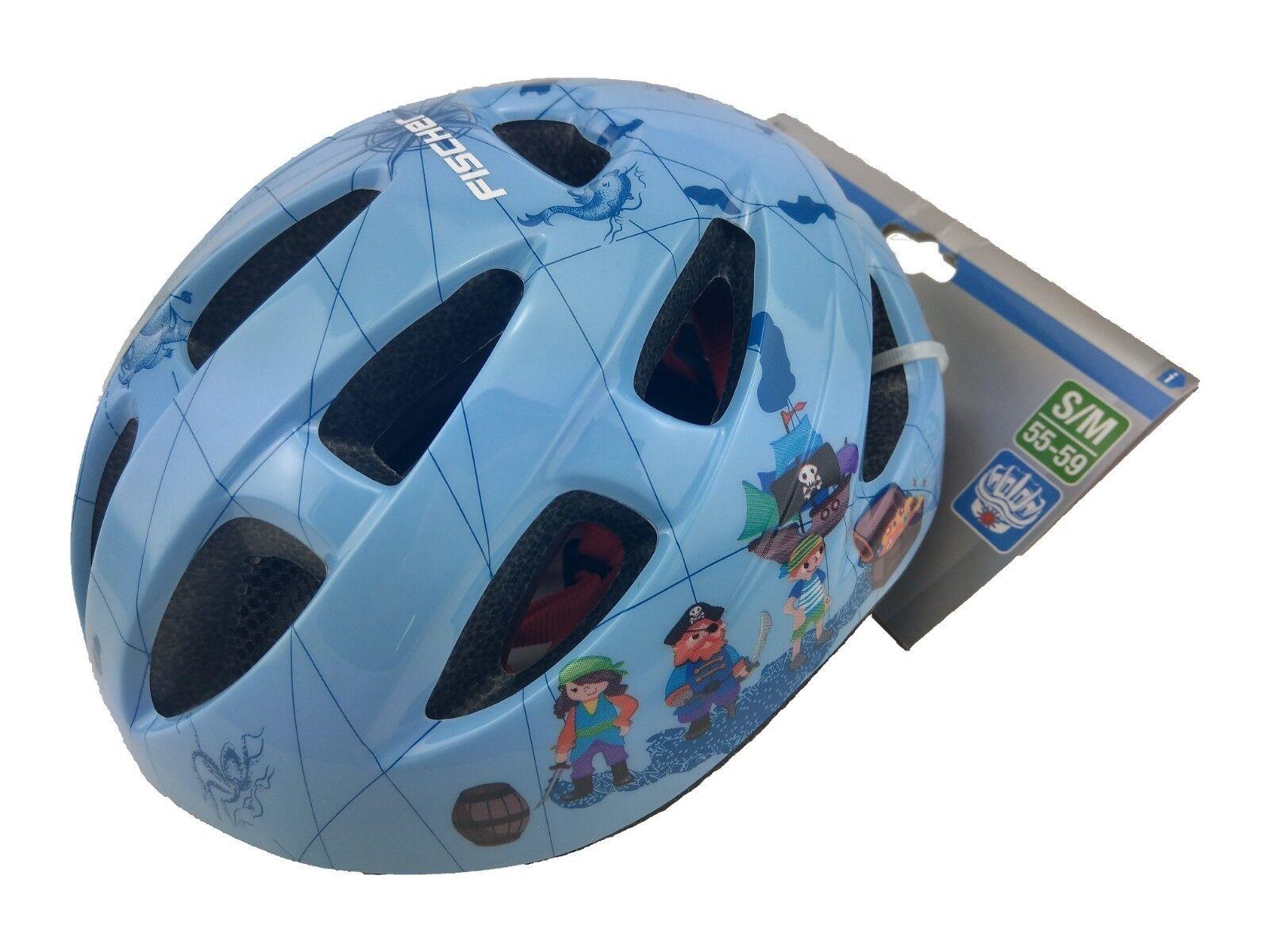"Fischer Fischer Fischer casco de bicicleta infantil ""piratas"" S M Seguridad caída casco Kids con luz  Ven a elegir tu propio estilo deportivo."