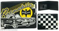 Batman Wallet 66 Batmobile Bi-fold Licensed Collectible Retro Look Checkered
