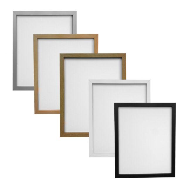 Black Oak Silver & White Beech RIO Box Style Picture Photo Frames Multiple Sizes