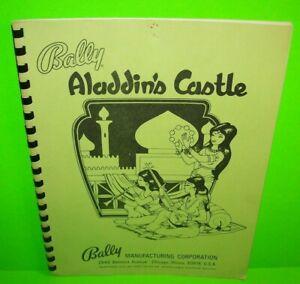 Aladdins-Castle-ORIGINAL-Bally-Pinball-Machine-Game-Service-Repair-Manual-1976