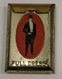 Antique-Full-Dress-Brand-Pocket-Tobacco-Cigarette-Tin-Patterson-Richmond-VA