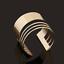Retro-Women-Gold-Four-Layers-Punk-Open-Cuff-Bangle-Wide-Bracelet-Fashion-Jewelry thumbnail 1