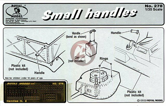 Royal Model 1/35 Small Handles [Photo-etch Detail kit] 278