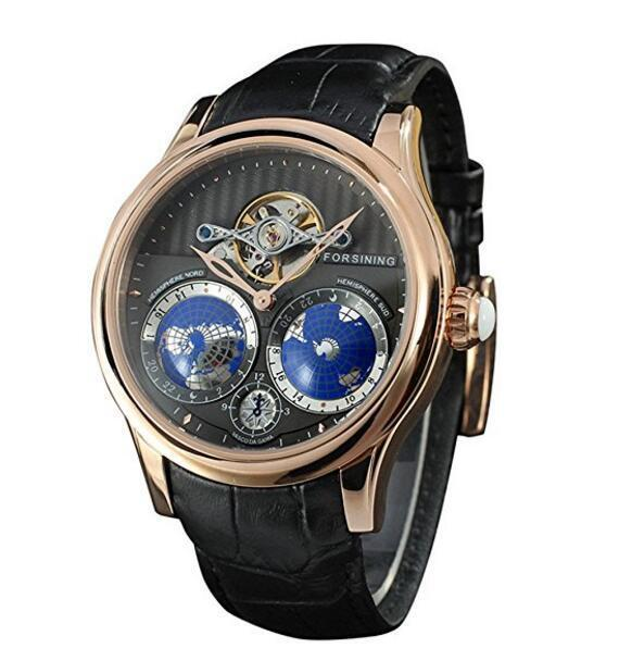 Forsining mens automatic watch world map tourbillon movement forsining mens automatic watch world map tourbillon movement stainless steel ebay gumiabroncs Gallery