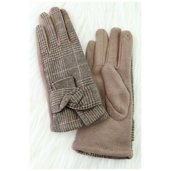 Glen Check Ribbon Wool Gloves New Gift Idea To Win A High Admiration