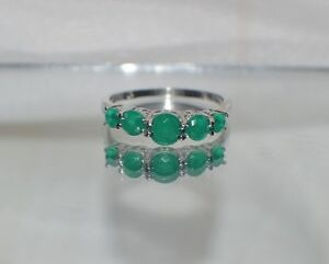 GLAMOROUS-2-25-ct-NATURAL-EMERALD-925-STERLING-SILVER-COCKTAIL-RING