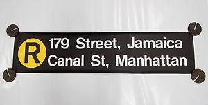 New York City Subway R Train Sign 179th Jamaica Canal Street R46 Rollsign NYCTA