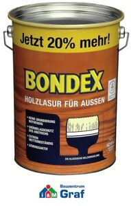 Bondex-Lasure-Bois-pour-L-039-Exterieur-4-8-Litre-Differentes-Couleurs-879
