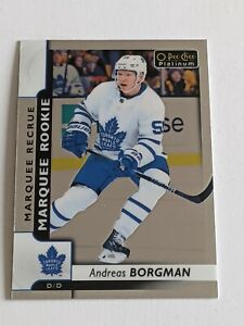 2017-18 OPC O-Pee-Chee PLATINUM #183 ANDREAS BORGMAN Marquee ROOKIE RC