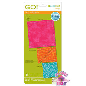 55018 - New AccuQuilt GO! Big & Baby Value Fabric Cutting Die Quilting Triangles