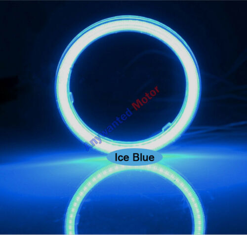 1Pair 85MM 90mm COB LED Angel Eyes Headlight Halo Ring Warning Lamps with Cover