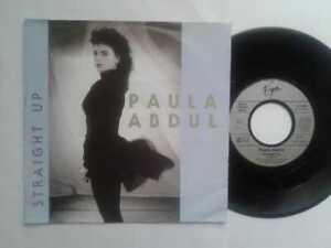 Paula-Abdul-Straight-Up-7-034-Vinyl-Single-1988-mit-Schutzhuelle