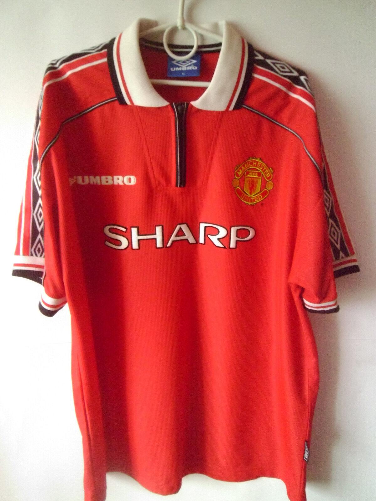 EXCELLENT    Manchester United 1998-2000 Shirt Jersey Trikot XL