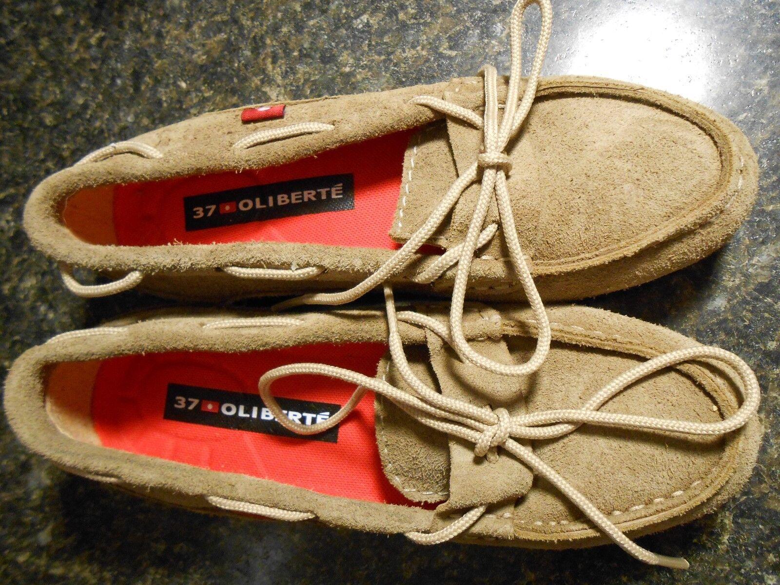 presentando tutte le ultime tendenze della moda Oliberte mocha suede Niami leather boat scarpe scarpe scarpe flats display Dimensione 7M New no box  shopping online di moda