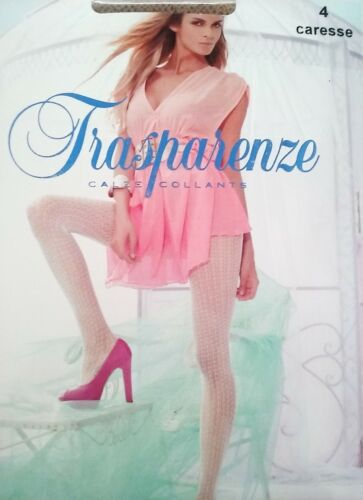 Trasparenze Beach Collection Crochet Tights Nude Pantyhose Size L