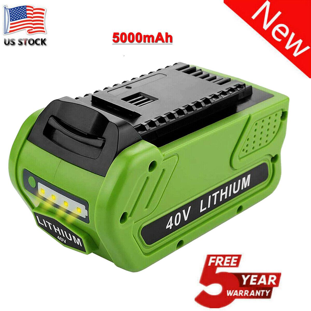 Trade-shop Batterie 40v 5000mah Li-Ion pour Greenworks tools sécateur 22637t