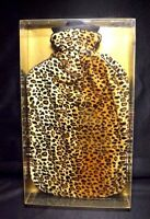 Into The Wild Cheetah Print Plushie Cover With Water Bottle In Original Box