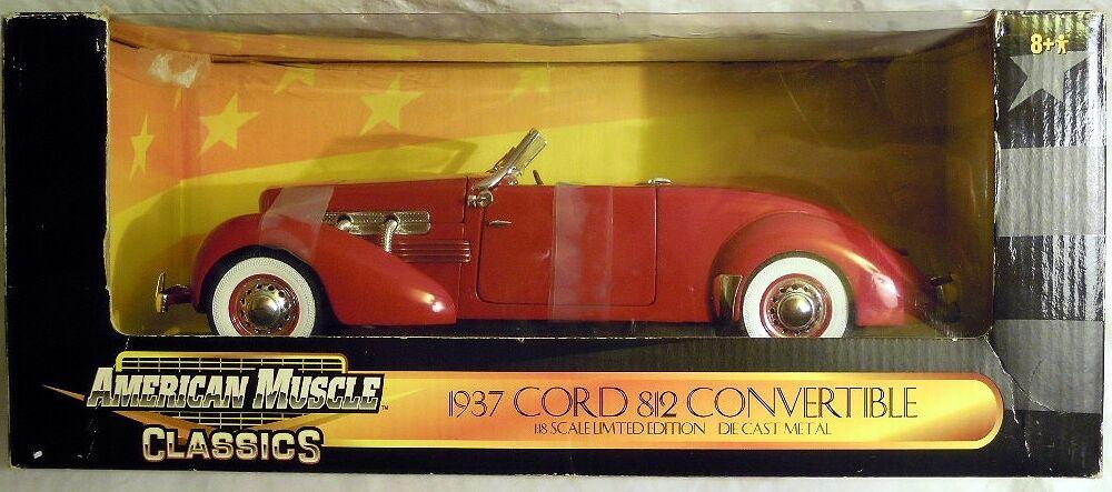 Ertl 32158  1937 Cord 812 converdeible, modelo de metal en 1 18, nuevo-sin abrir