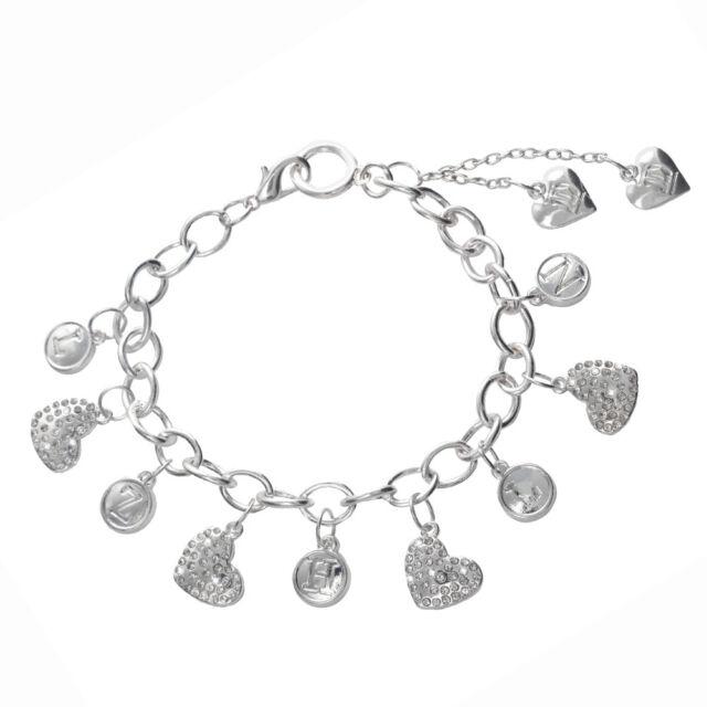 One Direction Heart Initials Charm Bracelet (100% Official Merchandise)