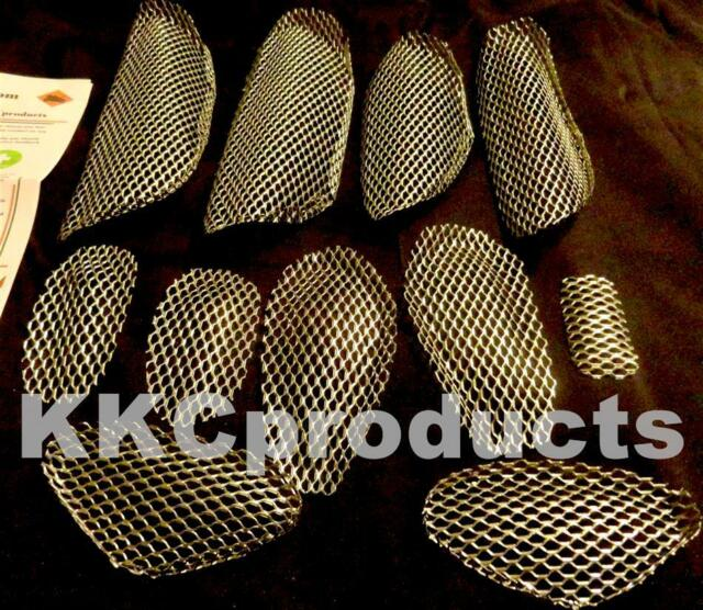 1999-2007 Hayabusa 11 pc NEP Galvanized Fairing Grilles Screens Vent Chrome Like