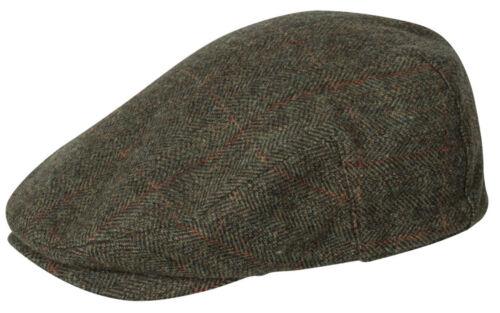 Hoggs of Fife Harewood Lambswool Tweed Cap