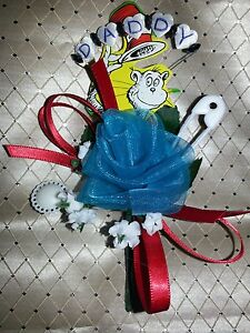 Baby Shower Daddy Grandpa Boutonniere Dr Seuss The Cat In The Hat