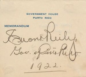 Emmet-Reily-Signature-of-the-Governor-of-Puerto-Rico-1922