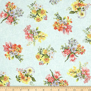 Botanical-Society-Small-Bouquet-Cotton-Fabric-Fabri-Quilt-By-the-Yard-BFab