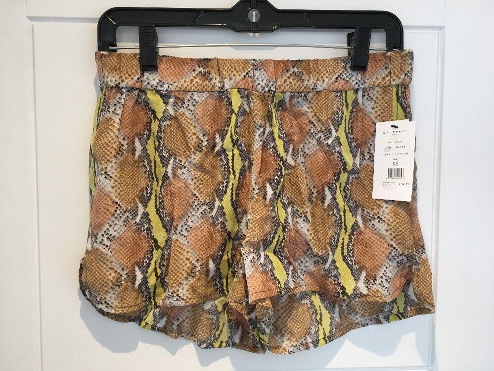 Equipment Femme Délavé Soie Landis Pyjama Short Peau De Serpent Imprimé Xs S Small Neuf Jolie Et ColoréE