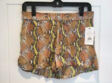 Equipment Femme Washed Silk Landis Pajama Shorts Snake Skin Print XS S Small New