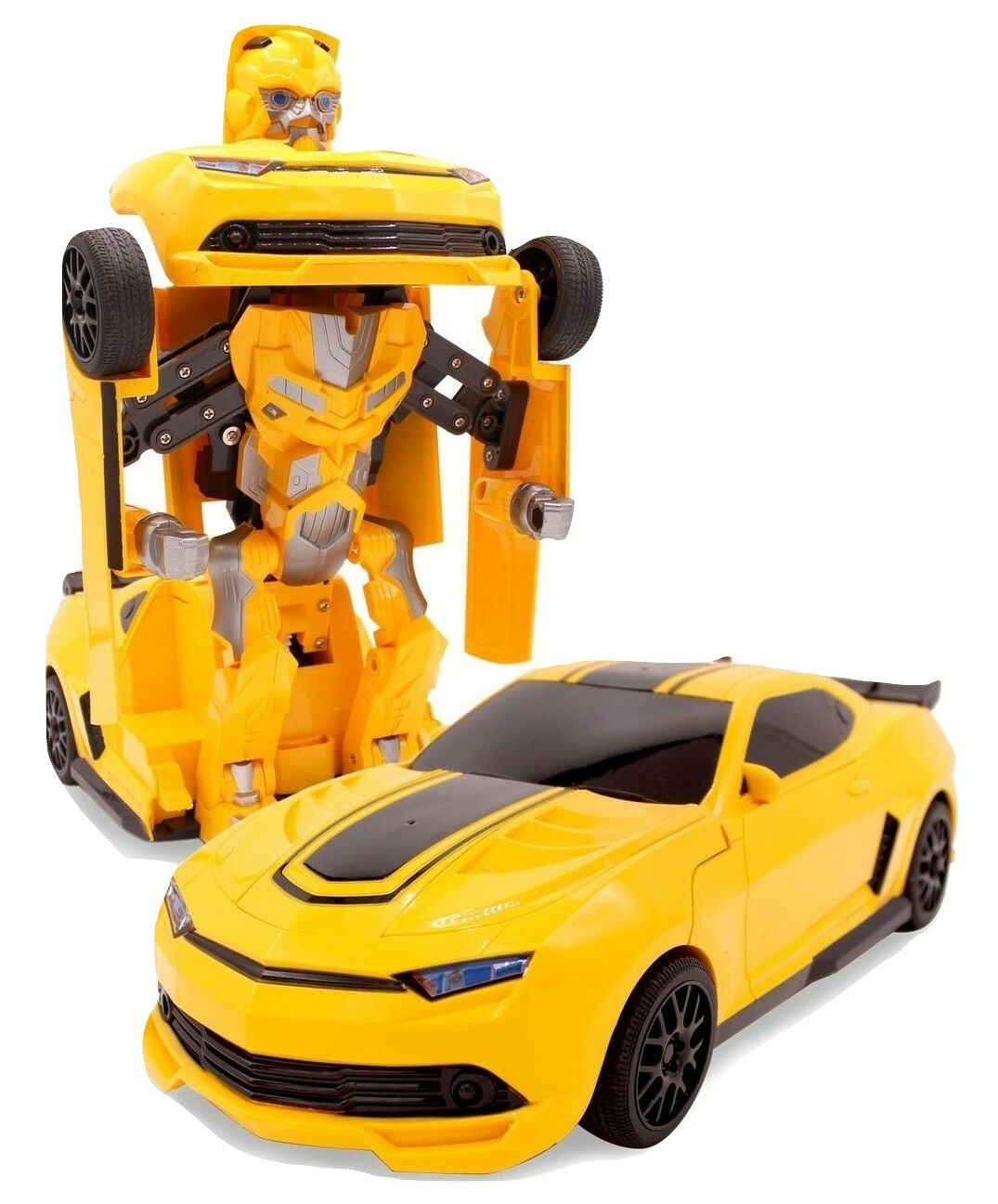 Transforming Bumblebee Action Figure Remote Control Transforming Robot Toy Car